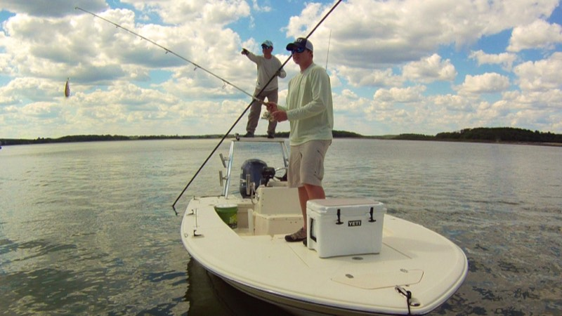 Fishing on flats boat charter in Hilton Head Island
